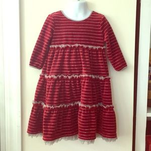 Hanna Andersson size 110 red Love To Twirl Dress